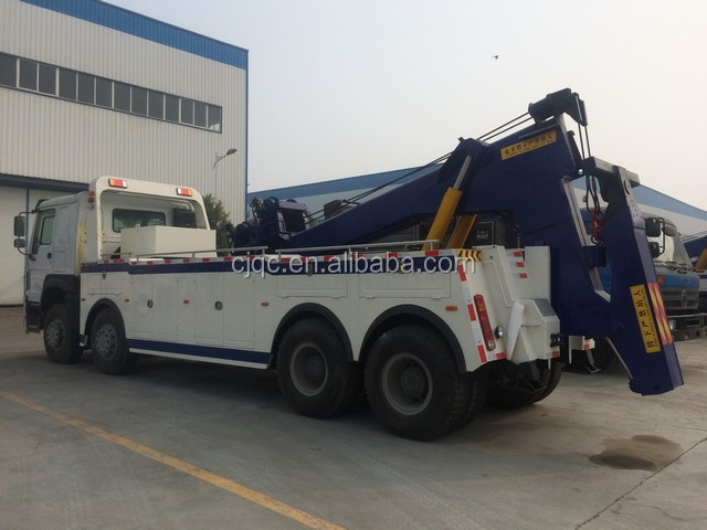 Howo 8x4 heavy duty tow truck under lift wrecker truck for sale