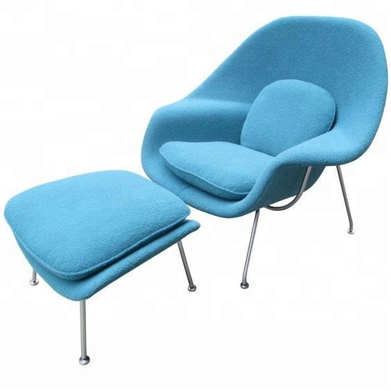 Fabric Saarinen Womb Lounge Chair With Ottoman Lint Chair