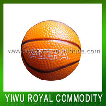 Custom Foam Basketball Shaped Anti PU Stress Ball