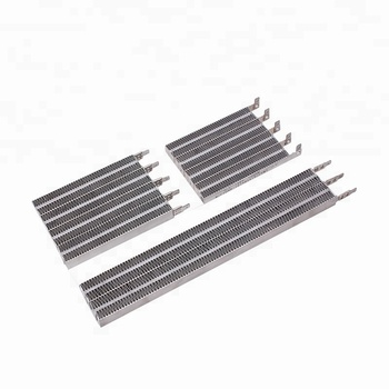 Electric corrugated PTC heater for household appliances