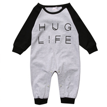 9ef4789f0eb7 New Arrival Rompers Infant Kids Girls Boys Hug Life Newborn Clothes Baby  Girl Boy Romper Jumpsuit Outfits Clothes