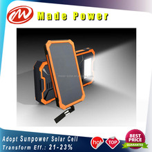New arriving 8000mAh Sunpower solar power bank with dual USB China manufacturer