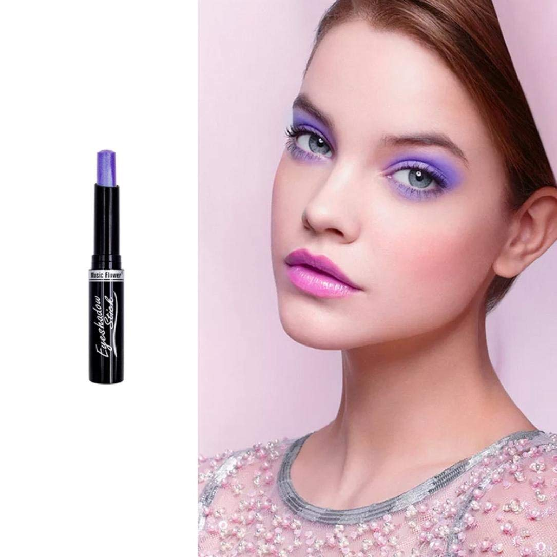 Music Flower Highlighter Eyeshadow, Pencil Cosmetic Glitter Eye Shadow Eyeliner