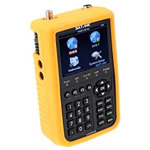 "Kingzer SATLINK WS-6909 3.5"" LCD DVB-S DVB-T Digital Satellite Terrestrial Finder Meter"