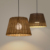Good Price cylinder vine rattan cane Shade Pendant Lights