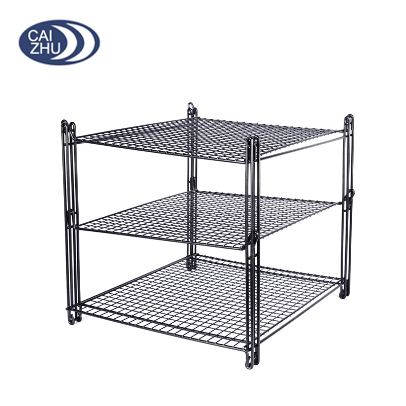 New Nifty Non Stick 3 Tier Cake Cooling Rack Bakery Fda