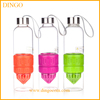 Glass fruit infuser glass sport water bottle lemon bottle