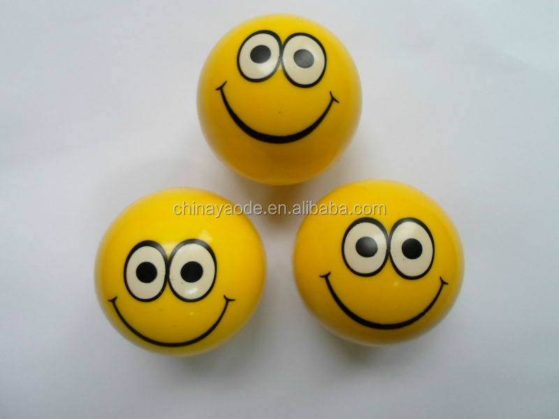 Smile bouncing ball toy/rubber bouncy ball toy