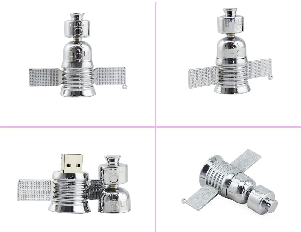 Novelty Satellite Shaped USB Flash Drive 8GB 16GB Pendrive with Custom Logo