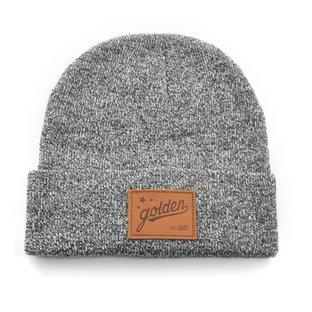 Wholesale fashion knitted grey wool beanie winter hat for men