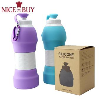 19.6OZ Silicone Collapsible Sports Drink Water Bottle