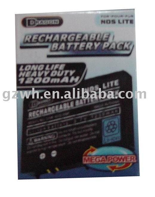 RECHARGEABLE BATTERY PACK FOR NDSL