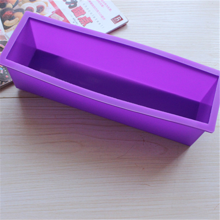 New design rectangular big loaf silicone mold soap with 1200ML