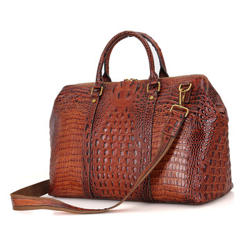 6003b New Arrival Fashion Vintage Genuine Leather Las Duffle Handbag
