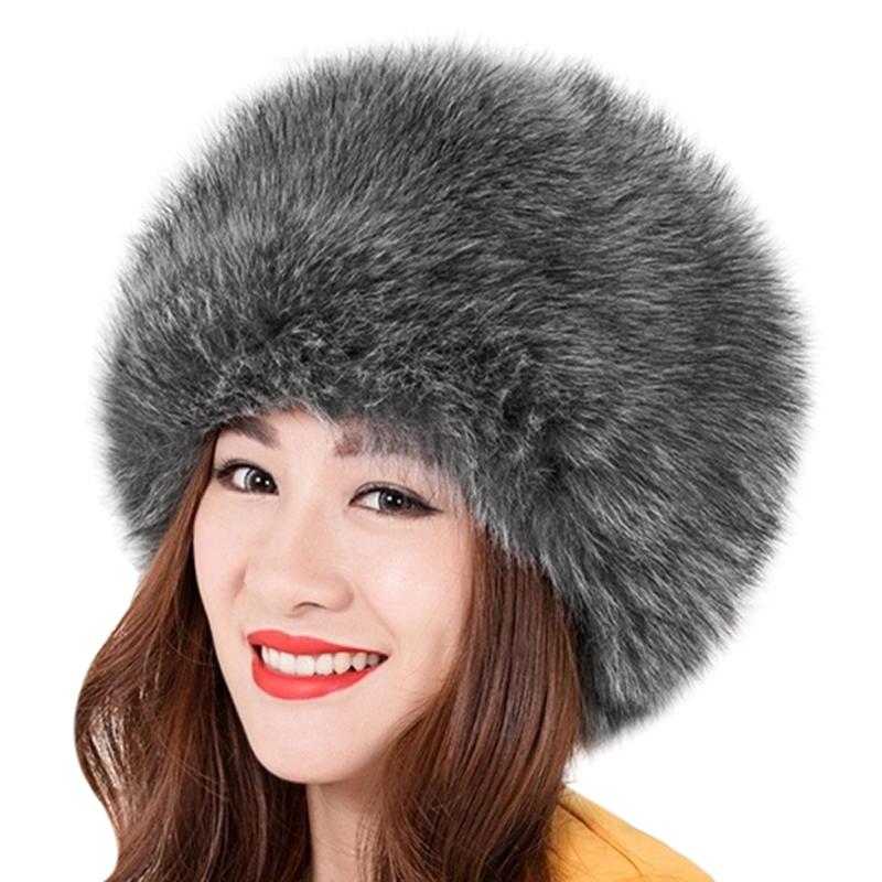 Cappello di pelliccia delle donne eleganti nuove donne inverno caldo  morbido soffice pelliccia sintetica cappello russo cosacco berretti  berretto signore ... 6797ec3021af