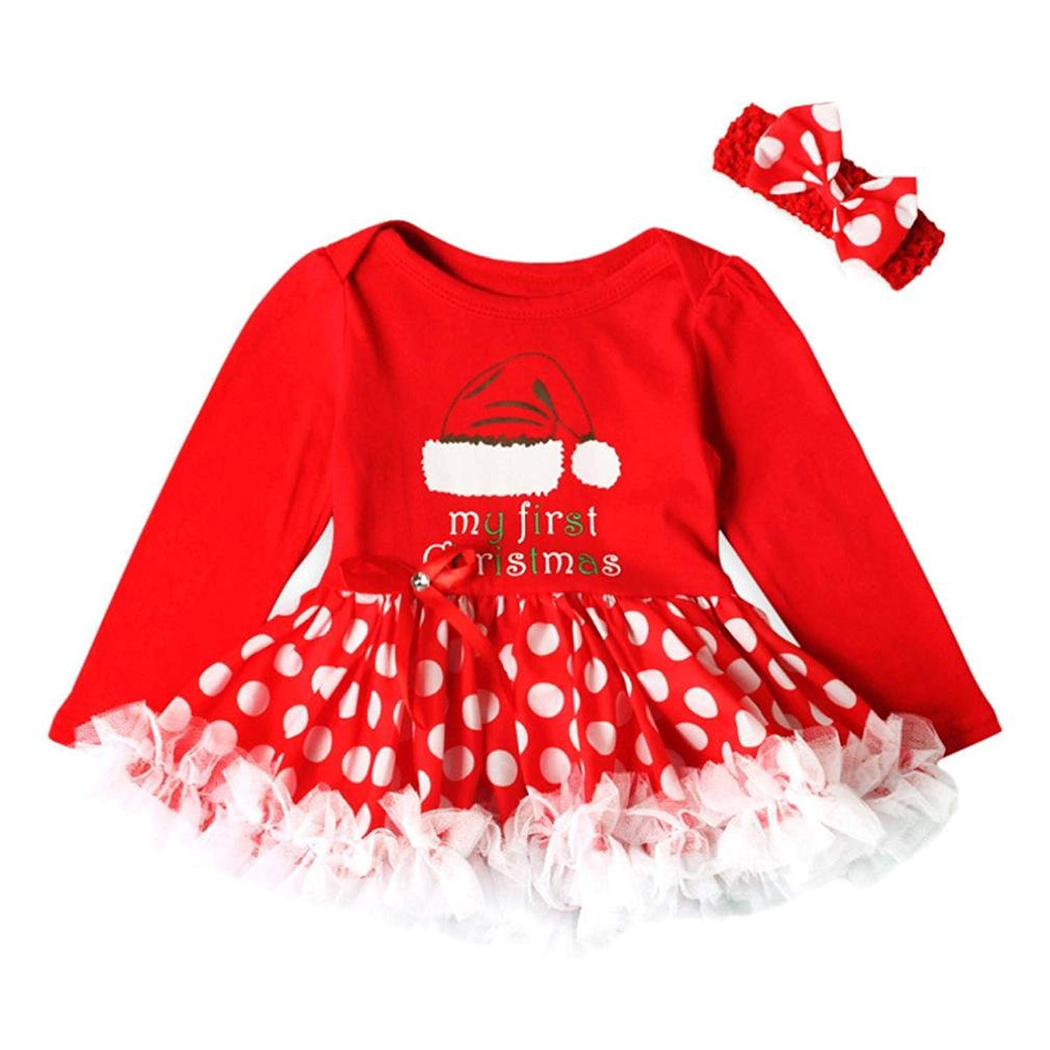 Kimanli Girls Dress Toddler Kids Baby Striped Princess Christmas Outfits Clothes