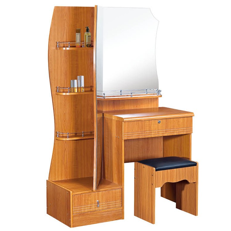 Simple wooden furniture bedroom modern mirrored dressing for Simple modern furniture