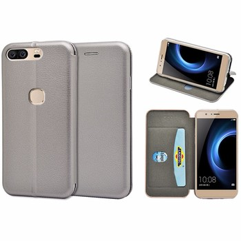 For Huawei Honour V8 case customized fast delivery full curved PU wallet case For Huawei Honour V8with card slot