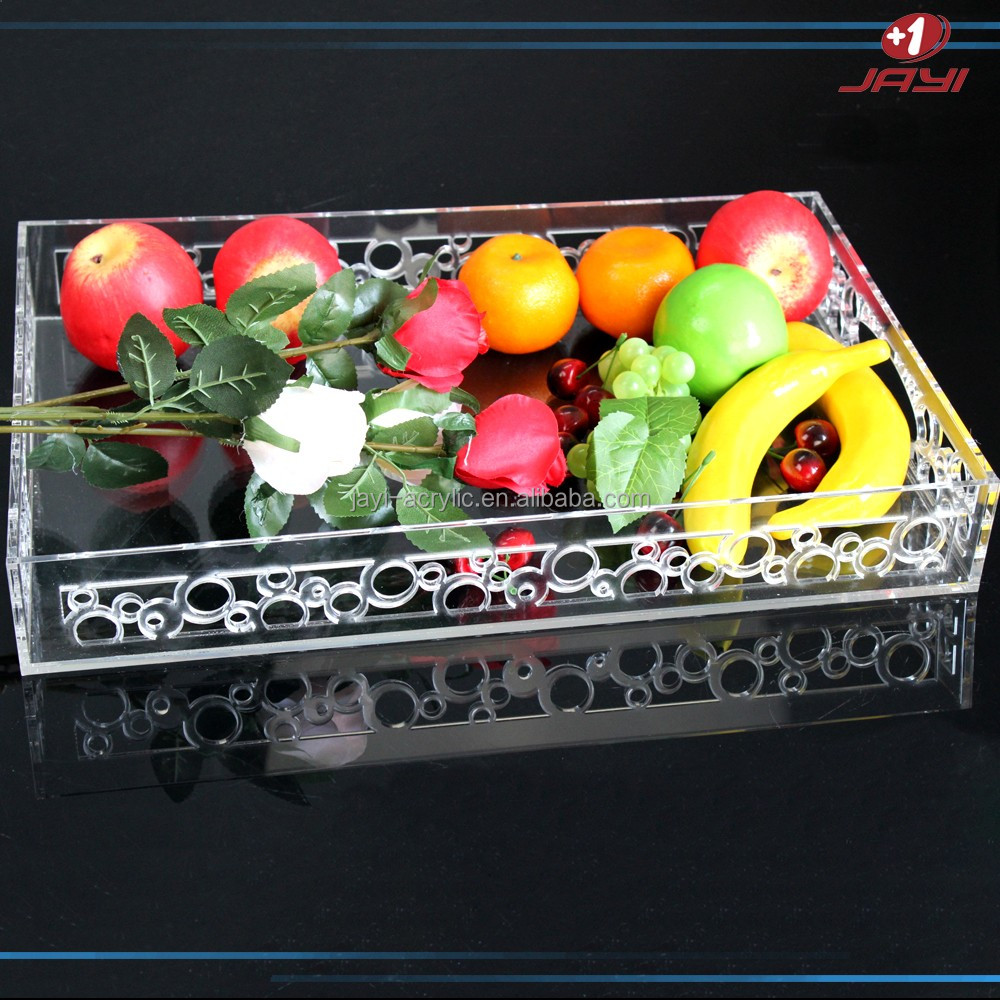 Factory custom wholesale acrylic bottle service tray/serving tray
