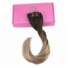 High Quality Wholesale virgin human brazilian 100% ombre Clip in Hair Extensions