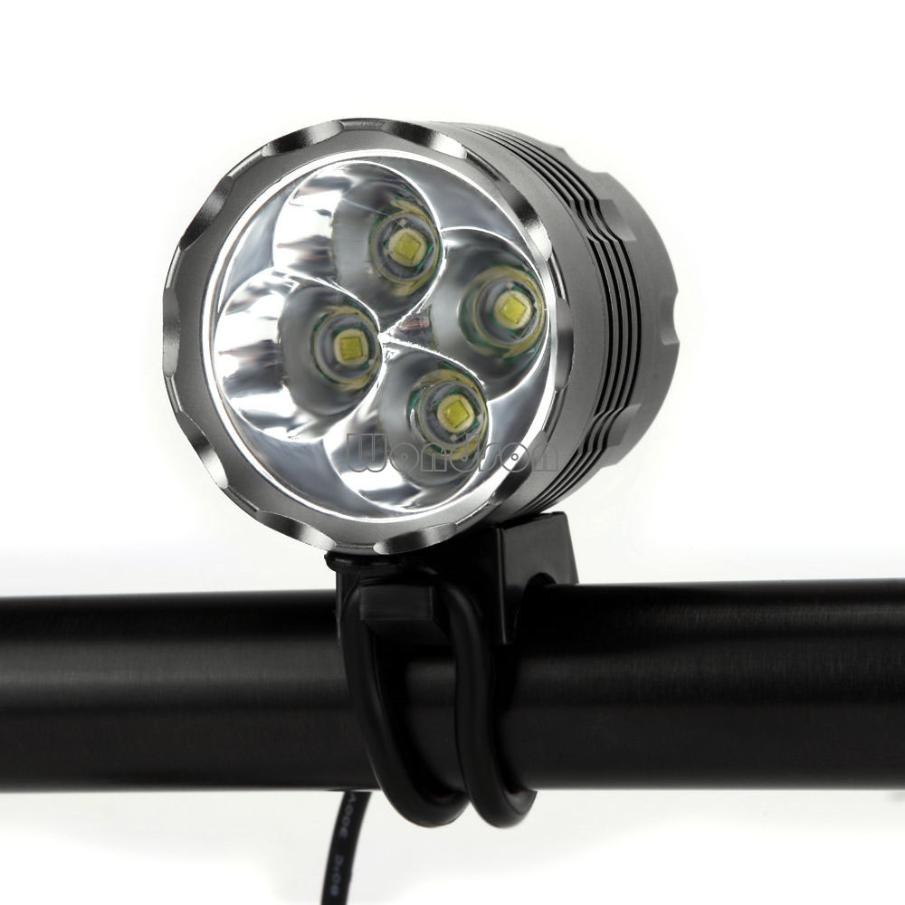 4x CREE XML T6 LED Front Bicycle Bike Rechargeable Light Torch Headlight Lamp