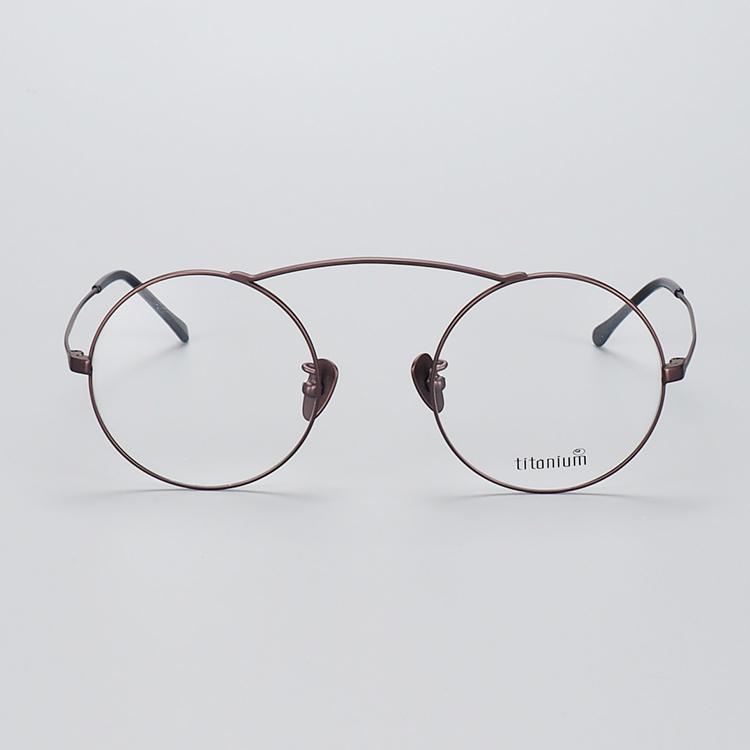 f1ef9d2b73e italy design fashion titanium optical eyeglass business round frames china  factory wholesale myopia prescription eyewear
