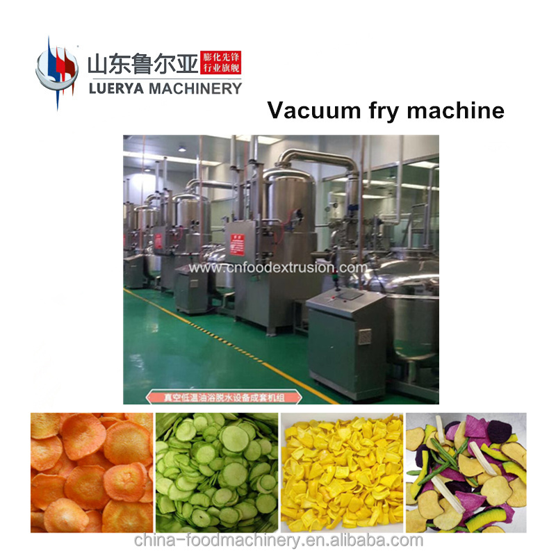 Fruit and vegetable vacuum fryer processing line