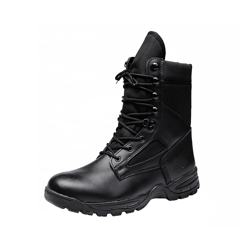 XINXING Black Military Boots Army Boots for Police Officers Split Leather EVA + Rubber Outsole MB48