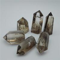 Natural Rock Smoky Quartz Crystal Points Raw Crystal Tibetan Healing Wands