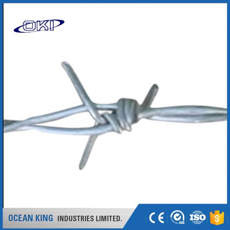 Wholesale decorative industry triple galvanized barbed wire length per roll