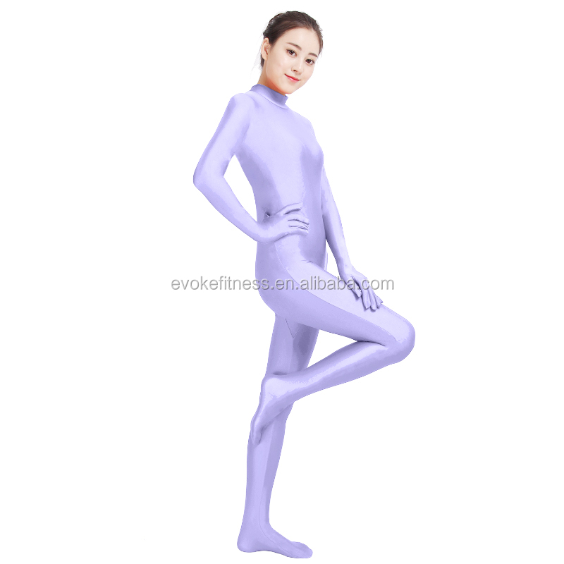 Light Purple Boat Neck Adult Full Body Ballet Unitard/Dance Costume/ Gymnastics Leotard/Cosplay Wear
