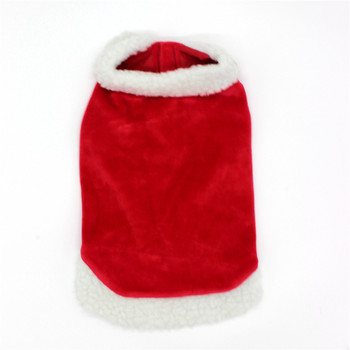 pet Christmas festival clothes Red dog Christmas cloak for small medium big dogs