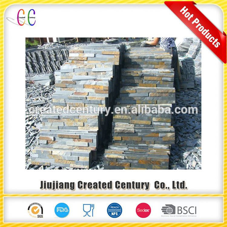 Wholesale bathroom wall covering panels slate cultured stone