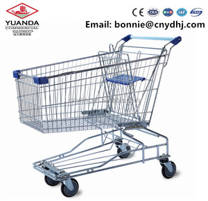 Canada Hot Sale Grocery Double Shopping Cart Shopping Trolley With Baby Seat