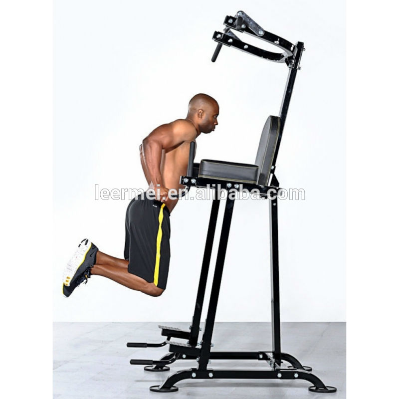 fitness power tower with dip station and pull up bar push. Black Bedroom Furniture Sets. Home Design Ideas