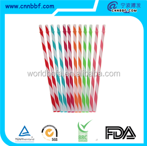 Hard Plastic Acrylic BPA Free Colored Acrylic reusable straws for kids party supplies