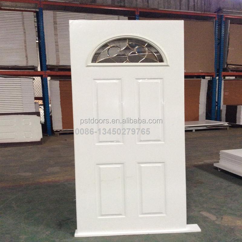 Commercial Oval Glass Insert Security Door Steel Entry Doors Double On Alibaba Com
