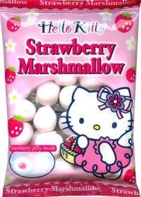 Hello Kitty Marshmallow - Strawberry Marshmallow Snacks Japanese Candy