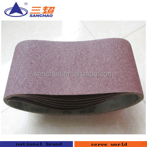 Sharpness aluminum oxide abrasive sanding belt for polishing machine