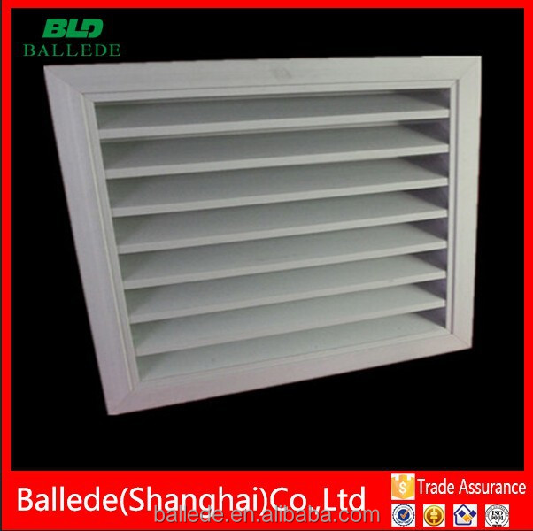 High quality exterior weatherproof fresh air aluminium louver