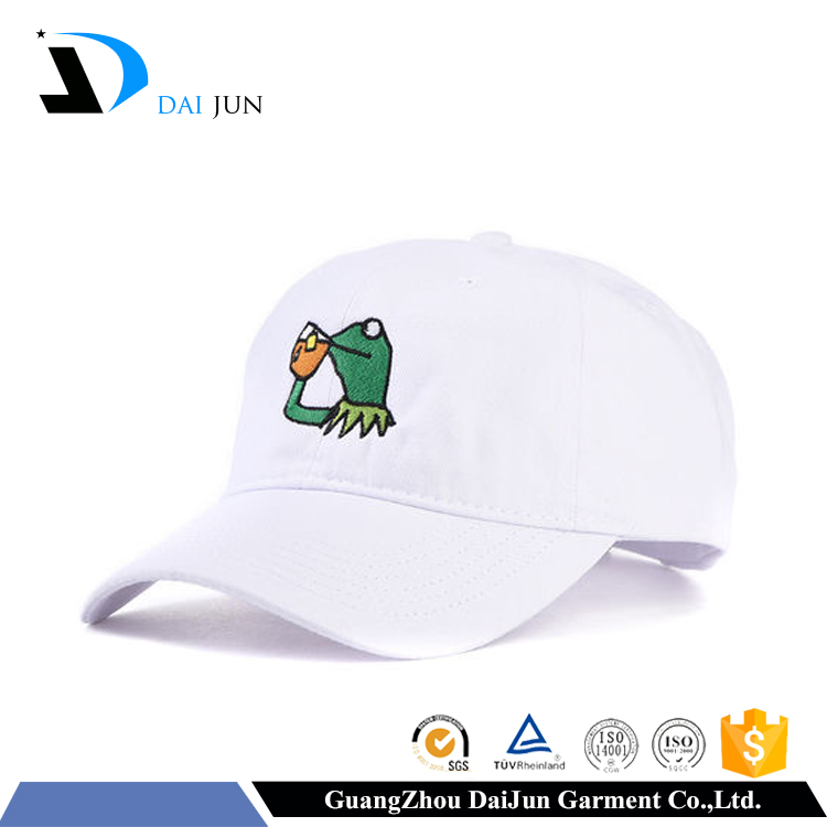 Guangzhou Daijun OEM Hot Sale Low price White Cotton Women And Men Baseball Embroidered Customise Caps