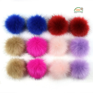 Faux Fox Fur Plush Pom Pom Ball Pompom Pompon Balls 8CM 10cm 12cm 15cm DIY Craft Accessories Decoration