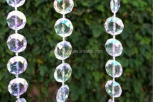 Wedding Decoration Iridescent Diamond Cut Crystal Beads Strands Garland