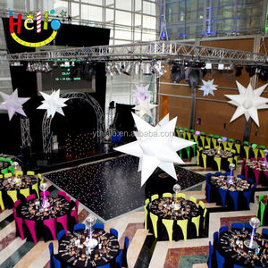 Newest night club accessories decoration inflatable bend star for event party club decoration