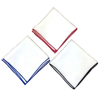Men's Classic Luxury Silk Linen Hand Rolled White Pocket Square