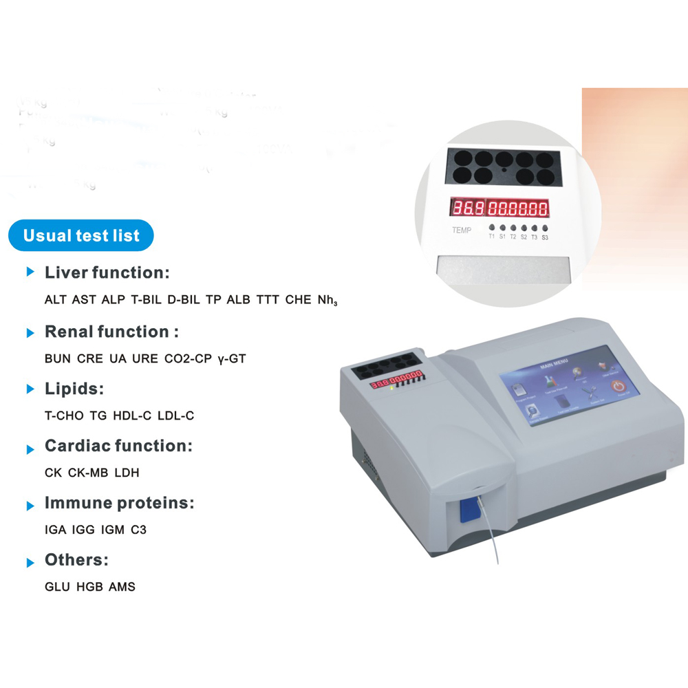 Clinical human portable semi-auto chemistry analyzer