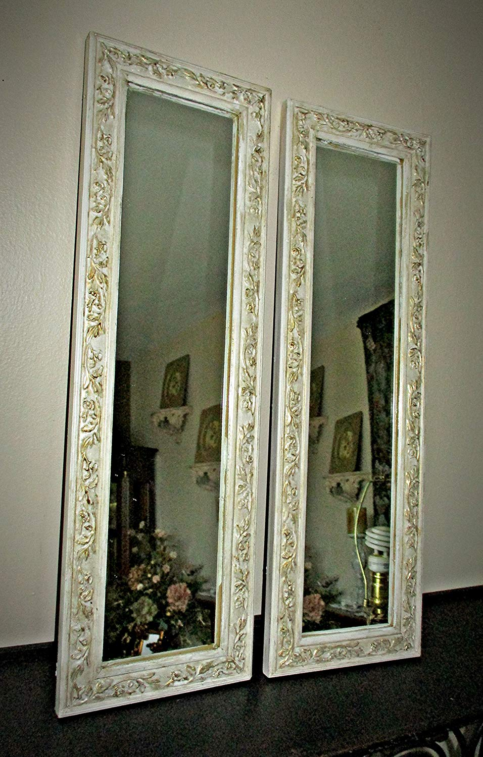 Baroque Gold Mirrors Get Quotations · Wall Mirrors, Vintage Upcycled, Distressed, Heritage White  and Gold, Baroque, Shabby