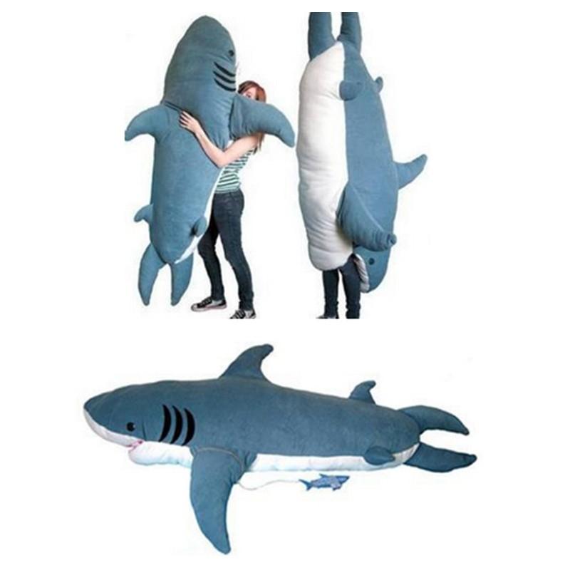 Hot 90cm Blue Hammerhead Shark Stuffed Animal Plush Toy Doll Gift Include Tail