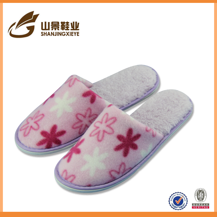 cheap indoor women fancy bedroom slippers with sponge heels