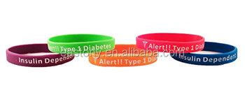 Diabetes Bracelets Silicone Medical Alert Wristbands (pack Of 5) Adult &  Kids Sizes - Buy Diabetes Medical Alert Bracelet,Reusable Wristbands Id
